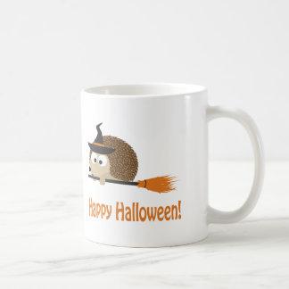 Happy Halloween Hedgehog Witch Coffee Mugs