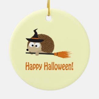 Happy Halloween! Hedgehog Witch Christmas Tree Ornaments