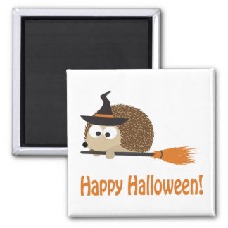 Happy Halloween! Hedgehog Witch Magnet