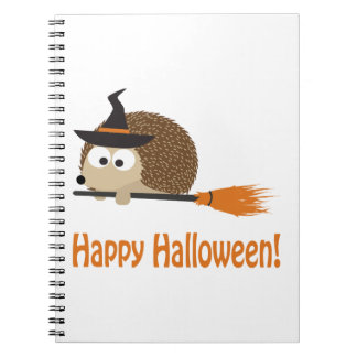 Happy Halloween Hedgehog Witch Note Book
