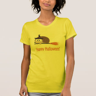 Happy Halloween! Hedgehog Witch T-Shirt