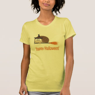 Happy Halloween Hedgehog Witch Tees