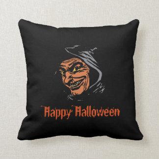 Happy Halloween Horror Goblin Throw Pillow