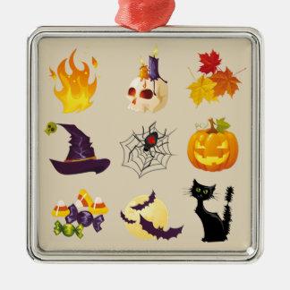 Happy Halloween Illustrations Christmas Ornament