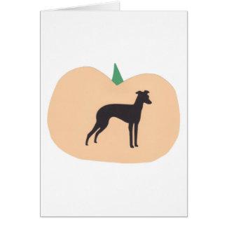 Happy Halloween Italian Greyhound Card
