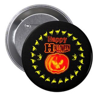 Happy Halloween! Jack - O - Lantern 3 7.5 Cm Round Badge