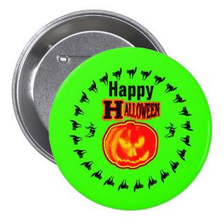 Happy Halloween! Jack - O - Lantern 4 Green 7.5 Cm Round Badge