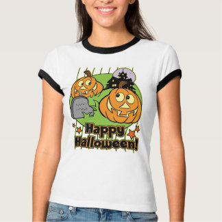 Happy Halloween Jack-o-Lantern Haunted House T-Shirt