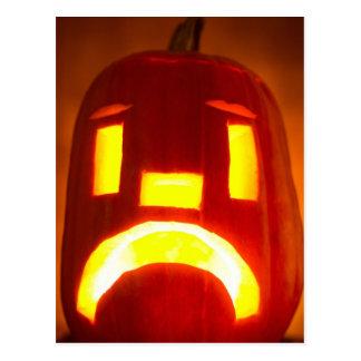 Happy Halloween Jack o' Lantern Pumpkins Postcard