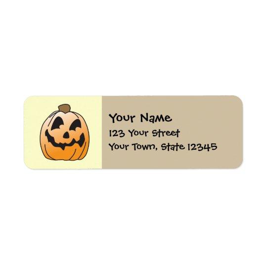 Happy Halloween Jack-O-Lantern Return Address Label