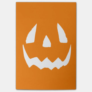 Happy Halloween Jack O'Lantern Face Post-it® Notes