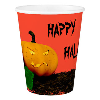 HAPPY HALLOWEEN - Jack O'Lantern pumpkin Paper Cup