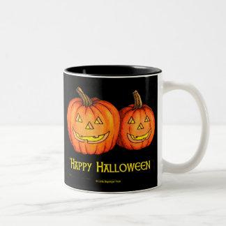 Happy Halloween Jackolanterns Two-Tone Mug