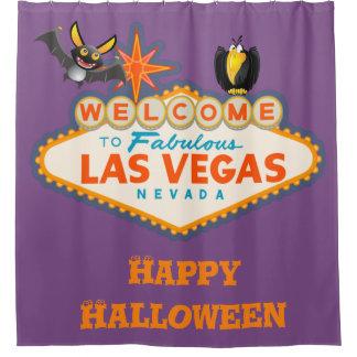 Happy Halloween Las Vegas Style Shower Curtain