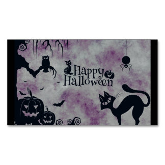 Happy Halloween Magnetic Business Card