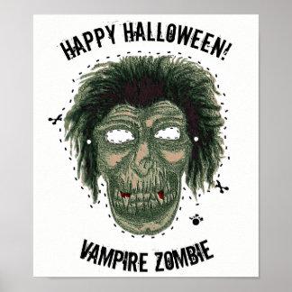 Happy Halloween -Mask Vampire Zombie Poster