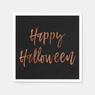 Happy Halloween Modern Halloween Napkins Disposable Serviettes