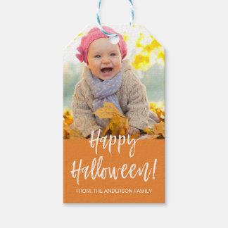 Happy Halloween Modern Halloween Photo Gift Tag