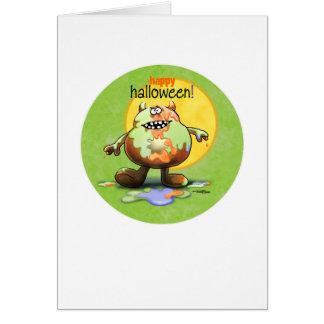 Happy Halloween Monster Greeting Card