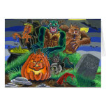 Happy Halloween Monsters and Ghosts Greeting Card