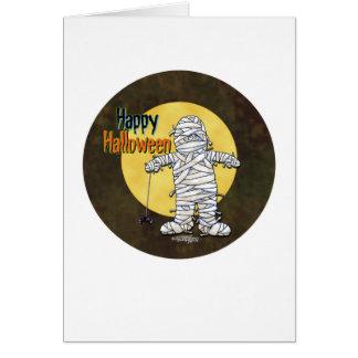 Happy Halloween Mummy Greeting Card
