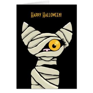 Happy Halloween Mummy Cat Card