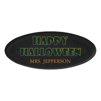 Happy Halloween Name Tag