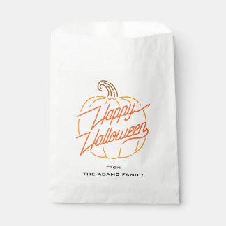 Happy Halloween Neon Favor Bags