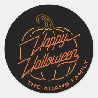 Happy Halloween Neon Stickers