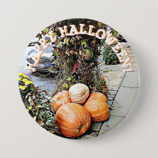 Happy Halloween NYC Picture Button