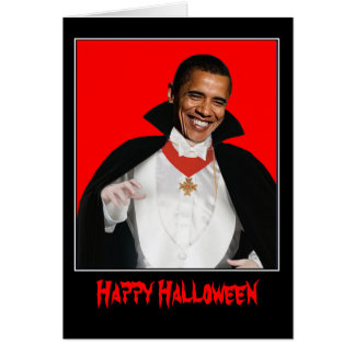 Happy Halloween Obama Greeting Card