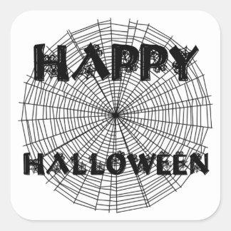 Happy Halloween on Spider Web Text Sticker