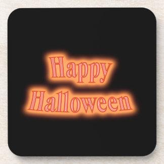 Happy Halloween orange glow Drink Coaster