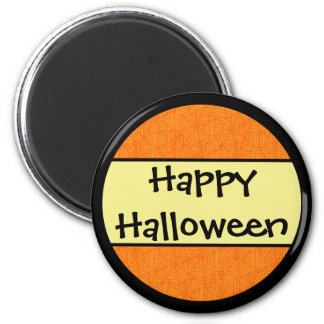 Happy Halloween Orange Pattern 6 Cm Round Magnet