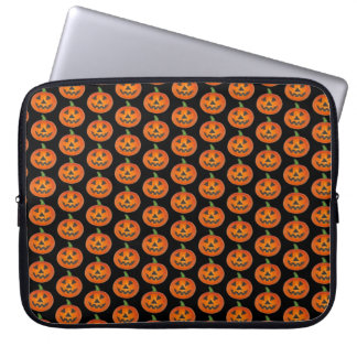 Happy Halloween Orange Pumpkin Jack o' Lantern Laptop Sleeve