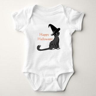 Happy Halloween Orange Witch Cat - T-shirt