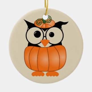 Happy Halloween Owl Christmas Ornament