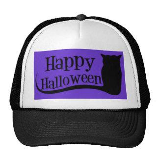 Happy Halloween Owl Mesh Hats