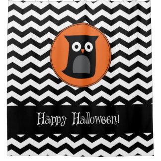 Happy Halloween Owl Shower Curtain
