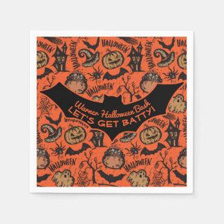 Happy Halloween Party - Let's Get Batty! Paper Serviettes