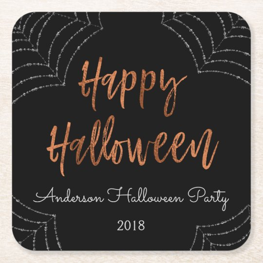 Happy Halloween Party Modern Halloween Coasters