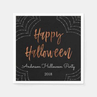 Happy Halloween Party Modern Halloween Napkins Paper Napkin