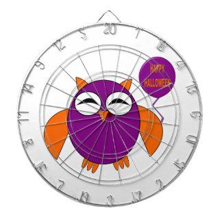 Happy Halloween Party Owl Dart Board