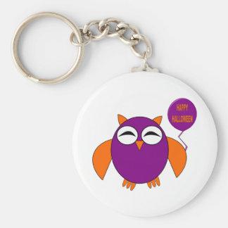 Happy Halloween Party Owl Keychain