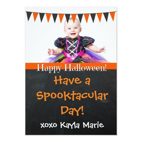 Happy Halloween Personalised Chalkboard Photo Card