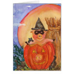Happy Halloween Pig CARD  Kittens &  Jack O'Pig