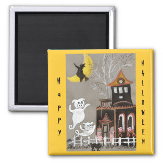 Happy Halloween Pig Ghosts Magnet