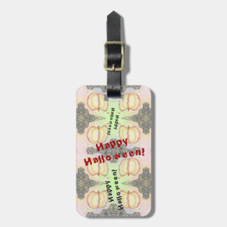 Happy Halloween! Playfully-Patterned Luggage Tag