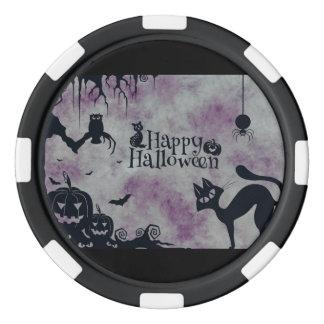 Happy Halloween Poker Chips