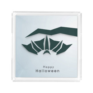 Happy Halloween Poster, Banner Or Flyer Acrylic Tray